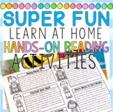 FUN Home Learning Hands-On Reading Activities Made for Distance Learning