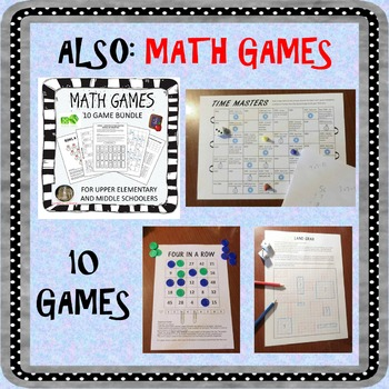FUN MATH BUNDLE. CSI, games, math stories, mystery pictures & messages, + more!