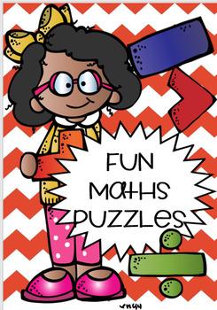 FUN MATH PUZZLES ! FREEBIE