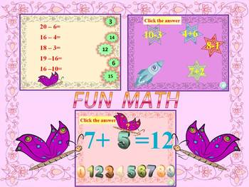 End of the year activities MATH - Addition and Subtraction