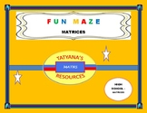 FUN MAZE ACTIVITY ON MATRICES