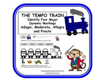 fun music tempo train worksheet great for assessment subs w answer key. Black Bedroom Furniture Sets. Home Design Ideas