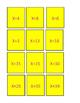 FUN-Math Memory Game Simple Algebra Equations