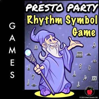 Music Game Powerpoints: Presto Party Note Naming Rhythm Symbols Dynamics