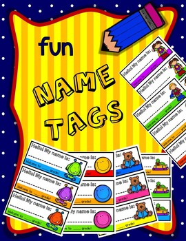 Fun Name Tags - Color & Black and White