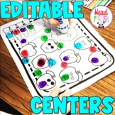 Fall NO PREP Editable Sight Word Practice Literacy Centers for Do a Dot Markers
