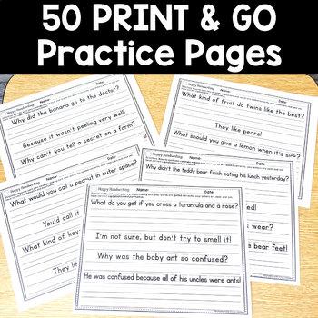 Handwriting Practice NO PREP: Grades 1,2,&3
