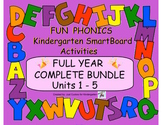 FUN PHONICS KINDERGARTEN FULL YEAR COMPLETE BUNDLE (Units 1-5 for SmartBoard)