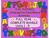 FUN PHONICS KINDERGARTEN FULL YEAR COMPLETE BUNDLE (Units 1-5 for SmartBoard)