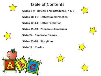 FUN PHONICS Kindergarten POWER POINT Lessons! KINDERGARTEN Unit 1, Week 9