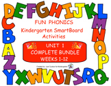 FUN PHONICS Kindergarten SmartBoard Lessons! KINDERGARTEN UNIT 1, ALL 12 WEEKS!