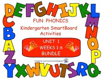 FUN PHONICS Kindergarten SmartBoard Lessons! KINDERGARTEN UNIT 1, WEEKS 1-6 ZIP
