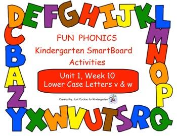 FUN PHONICS Kindergarten SmartBoard Lessons! KINDERGARTEN Unit 1, Week 10