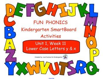 FUN PHONICS Kindergarten SmartBoard Lessons! KINDERGARTEN Unit 1, Week 11