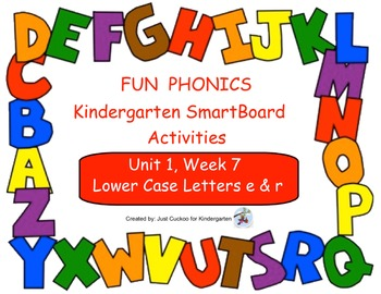 FUN PHONICS Kindergarten SmartBoard Lessons! KINDERGARTEN Unit 1, Week 7