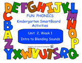 FUN PHONICS Kindergarten SmartBoard Lessons! KINDERGARTEN Unit 2, Week 1