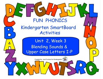 FUN PHONICS Kindergarten SmartBoard Lessons! KINDERGARTEN Unit 2, Week 3