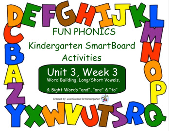 FUN PHONICS Kindergarten SmartBoard Lessons! KINDERGARTEN Unit 3, Week 3
