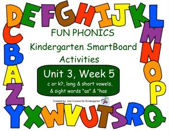 FUN PHONICS Kindergarten SmartBoard Lessons! KINDERGARTEN Unit 3, Week 5