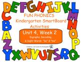 FUN PHONICS Kindergarten SmartBoard Lessons! KINDERGARTEN Unit 4, Week 2