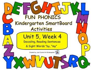 FUN PHONICS Kindergarten SmartBoard Lessons! KINDERGARTEN Unit 5, Week 4