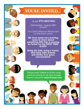 Fun Pto Meeting Invitation English By Oh Happy Day Tpt