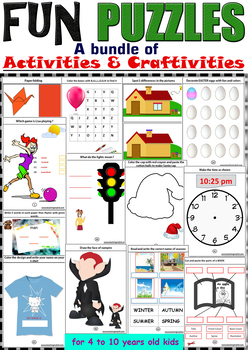 Fun stuff PUZZLES (a bundle of Activities and Craftivities)