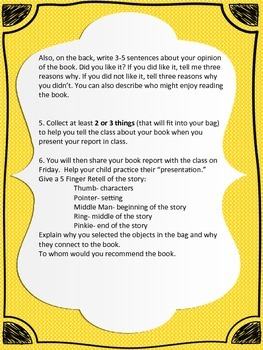 FUN Paper Bag Book Report- Primary