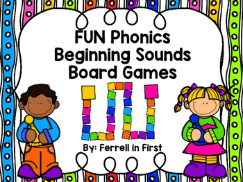 FUN phonics Beginning Sounds Board Games