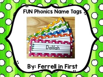 FUN Phonics Editable Name Tags