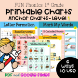FUN Phonics Level 1 Classroom Anchor Chart Posters - PDF + Google Slides Version