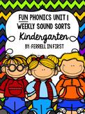 FUN Phonics Sound Sorts: Unit 1 Kindergarten