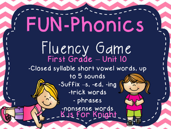FUN-Phonics Unit 10 Fluency Game