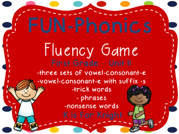FUN-Phonics Unit 11 Fluency Game