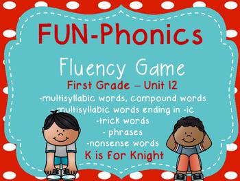 FUN-Phonics Unit 12 Fluency Game