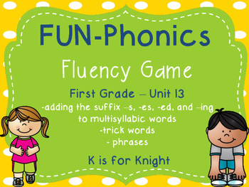 FUN-Phonics Unit 13 Fluency Game