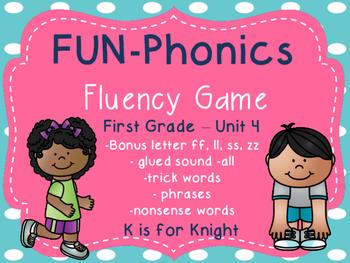 FUN-Phonics Unit 4 Fluency Game