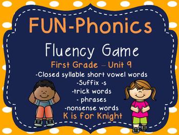 FUN-Phonics Unit 9 Fluency Game