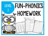 FUN-Phonics Weekly Homework, Level 1