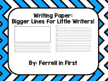 FUN Phonics Writing Paper: Bigger Lines for Little Writers