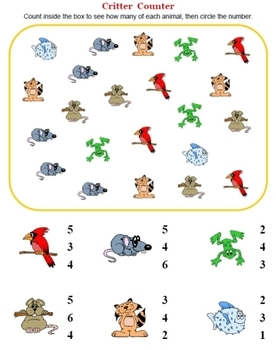 FUN Preschool Numbers Worksheets!