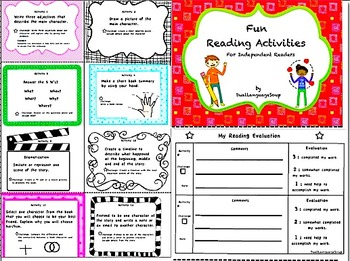 FUN READING ACTIVITIES for Independent Readers