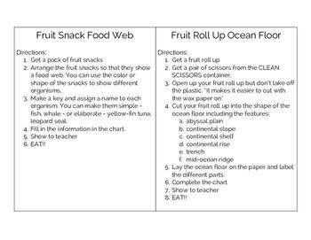 FUN REVIEW!! Ocean Floor and Food Webs VA SOL 5.6