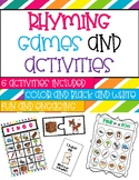 FUN Rhyming Games, Activities, and Centers