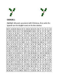 FUN SPANISH CHRISTMAS PUZZLES