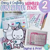 FUN STUFF!  Grade 2 Ontario Number Sense Games & Craftivities