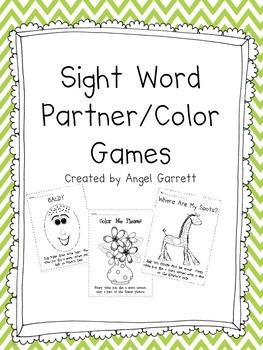 FUN Sight Word Partner Games (Baldy)