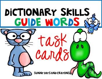 TASK CARDS  DICTIONARY SKILLS