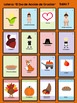 Día de Acción de Gracias Vocabulary Bingo Game Lotería for Spanish Class