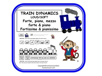 FUN TRAIN WORKSHEET- MUSIC DYNAMICS! w Answer Key- GREAT FOR SUBS!